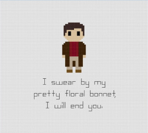 Firefly Malcolm Reynolds Quote Cross Stitch Pattern