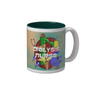 Dialysis Nurse Art Gifts Mugs