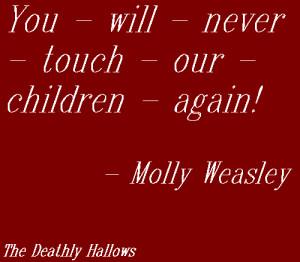 Day 115 - Molly Weasley to Bellatrix Lestrange
