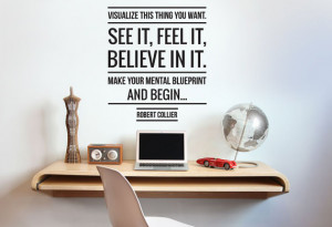 Robert Collier Visualize Quote Wall Sticker