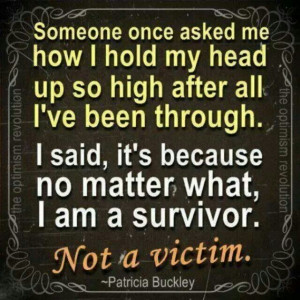 am a survivor, not a victim