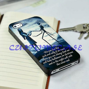 iPhone 5 cases,Jack skeleton and sally love quotes for iPhone 5