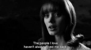dark shadows, love, movie, persons, quote, quotes, sad, words
