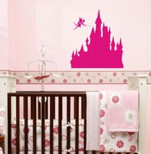 Princess Castle with Fairy Wall Decal Sticker Girl Nursery Fairytale