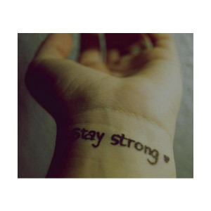 stay strong | Tumblr liked on Polyvore