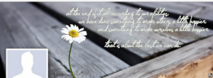 Facebook Cover Heart Warming Quote