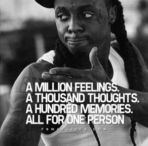 Lil Wayne A Million Feelings Quote Picture