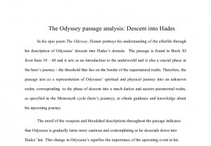 Essay for The Odyssey?