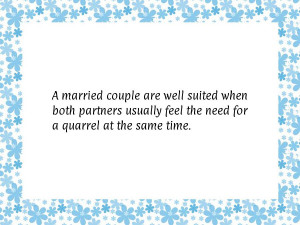 married couple are well suited when both partners usually feel the ...