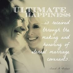 Becoming ultimately happy - Elder Bednar quote #mormonquotes # ...
