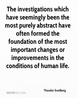 ... important changes or improvements in the conditions of human life