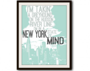 Billy Joel Classic Rock Lyrics New York Typography Print ...