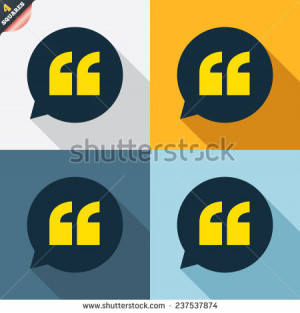 mark in speech bubble symbol. Double quotes. Four squares. Colored ...