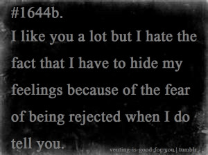 Im Hiding My Feelings Quotes