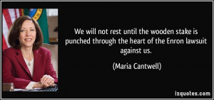 More Maria Cantwell Quotes