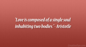 Aristotle Quotes On Love Aristotle quote. love is