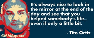 It's always nice to look in the mirror at the end of the day and see ...