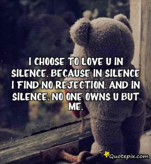 quotes about silence and love