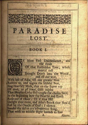 the first edition of paradise lost john milton paradise lost a poem in ...