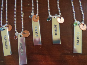 Handstamped Jewelry Jewelry with Quotes, Jewelry, Custom Quotes ...