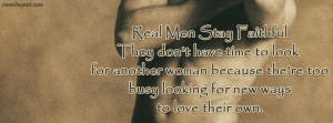 Real Men Stay Faithful Facebook Cover Layout