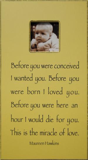 This is true regarding my children.