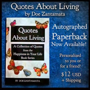 Quotes About Living Paperback on Amazon