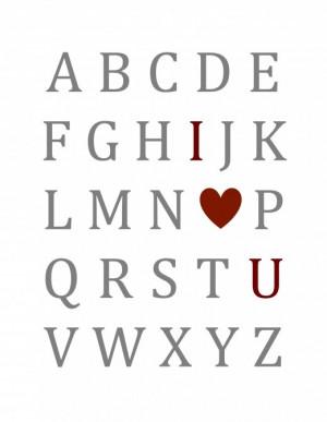 Valentine's alphabet printable