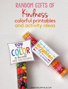 Spring Random Acts of Kindness printables... turn simple treats into ...