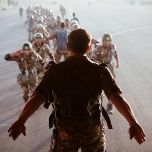 King Abdullah of Jordan during a military exercise in June 2014 (Image ...