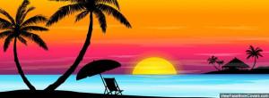 colorful, beach, sunset,
