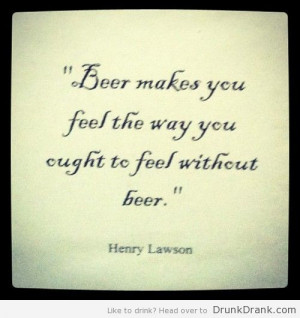 Henry Lawson Quote Beer...