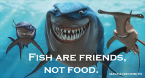 fish are friends not food finding nemo