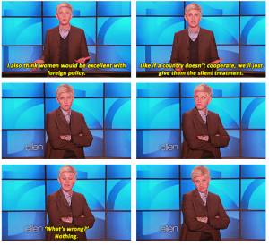 Ellen Degeneres On Women In Foreign Policy