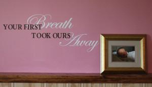 Catalog > Your First Breath, Nursery Vinyl Wall Design