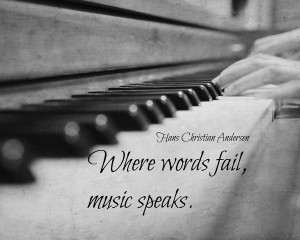 Where words fail, music speaks. Art Print