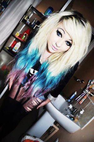 swag cute pretty girl hair colour swaggy
