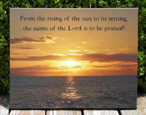 Hawaiian Sunset Photograph Inspirational Bible Verse Quote Scripture ...