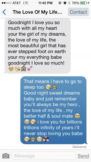 Cute Goodnight Texts for Boyfriend