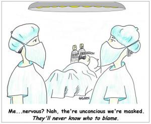 knee surgery cartoon