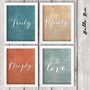 madly, deeply in love - Wall decor, quote prints, inspirational quote ...
