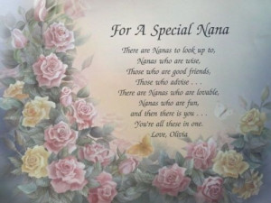 Special Nana or Nan Personalized Grandmother Poem Birthday or ...