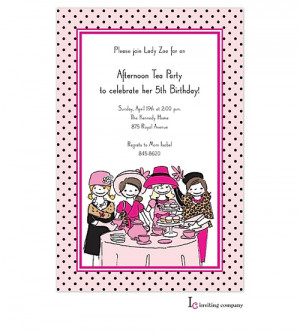 design 1 1371p little tea little girl tea party invitations