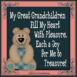 My Great-Grandchildren fill my heart with pleasure, each a joy for me ...