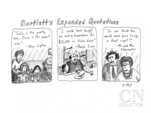 Bartlett's Expanded Quotations - New Yorker Cartoon Premium Giclee ...
