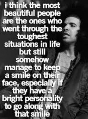 Beautiful People Quote from Drake