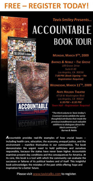 Tavis Smiley ACCOUNTABLE Tour in Los Angeles - THIS WEEK!