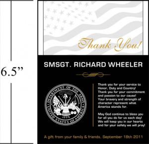 Sample Military Appreciation Wording (#320-1)