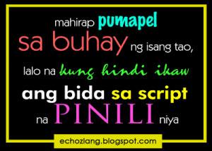 pumapel sa buhay ng isang tao, lalo na kung hindi ikaw ang bida sa ...