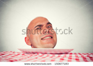Funny Bald Man With Head Mad